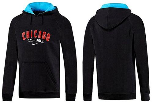 Chicago Cubs Pullover Hoodie Black & Blue