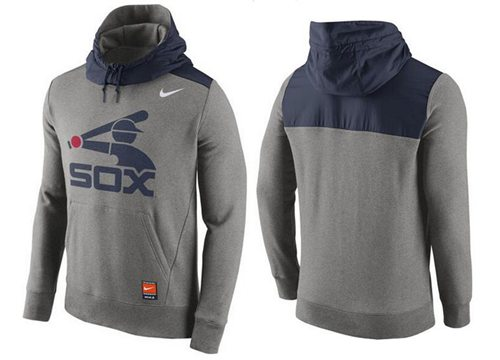 Men's Chicago White Sox Nike Gray Cooperstown Collection Hybrid Pullover Hoodie