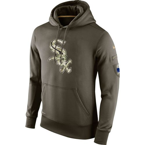 Men's Chicago White Sox Nike Olive Salute To Service KO Performance Hoodie