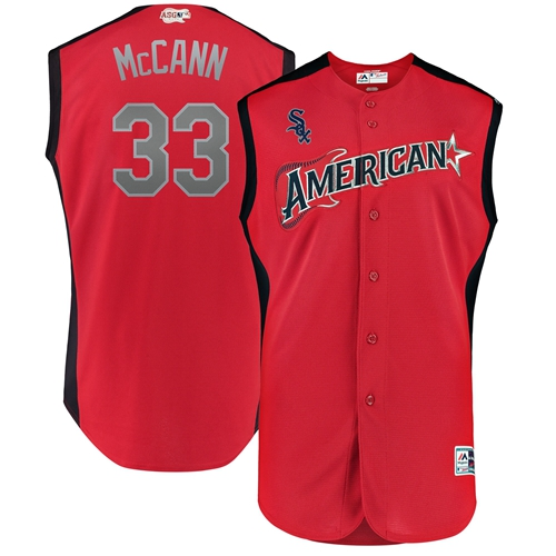 White Sox #33 James McCann Red 2019 All-Star American League Stitched MLB Jersey
