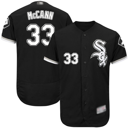 White Sox #33 James McCann Black Flexbase Authentic Collection Stitched MLB Jersey
