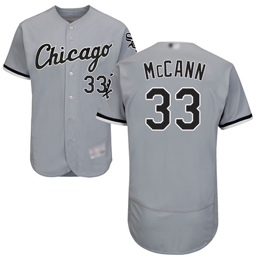 White Sox #33 James McCann Grey Flexbase Authentic Collection Stitched MLB Jersey
