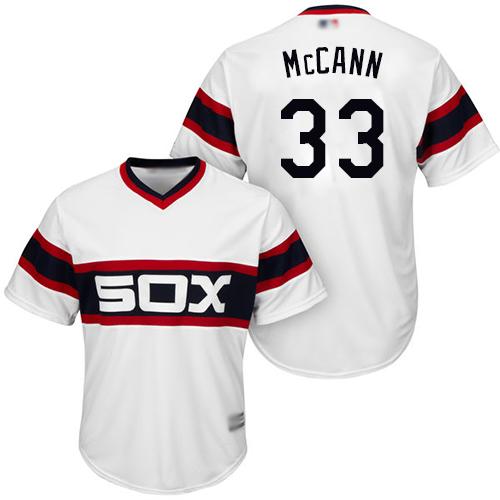 White Sox #33 James McCann White New Cool Base Stitched MLB Jersey