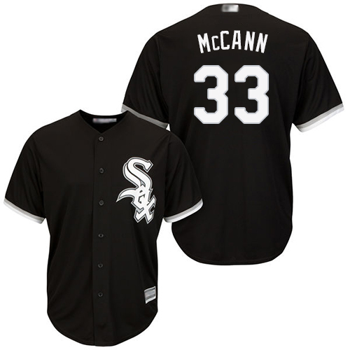 White Sox #33 James McCann Black New Cool Base Stitched MLB Jersey
