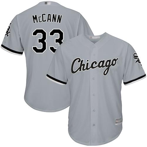 White Sox #33 James McCann Grey New Cool Base Stitched MLB Jersey