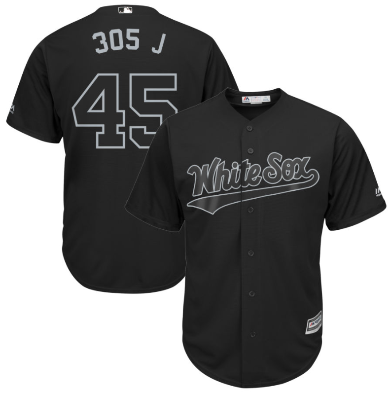 White Sox #45 Michael Jordan Black