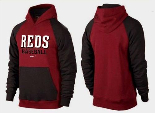 Cincinnati Reds Pullover Hoodie Burgundy Red & Black