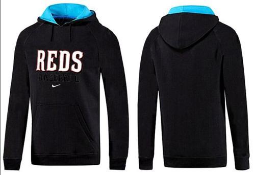 Cincinnati Reds Pullover Hoodie Black & Blue