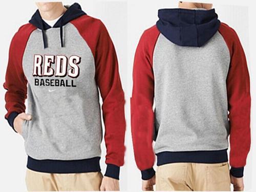 Cincinnati Reds Pullover Hoodie Grey & Red