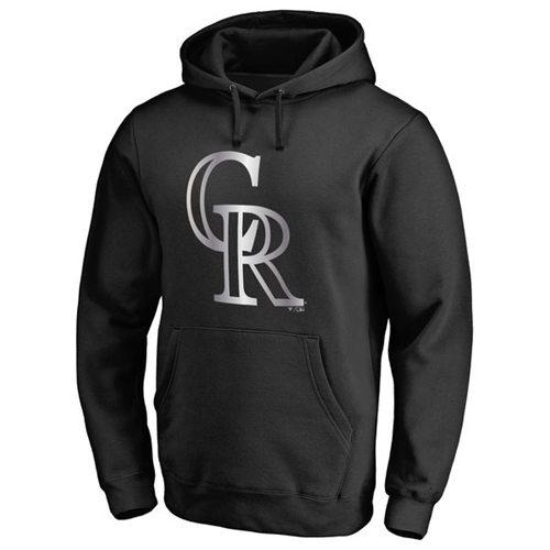 Colorado Rockies Platinum Collection Pullover Hoodie Black