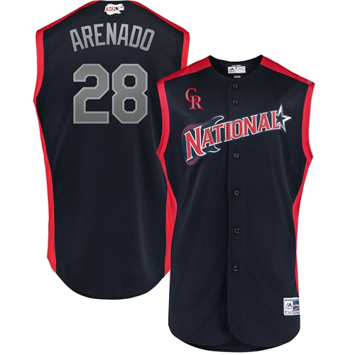 Rockies #28 Nolan Arenado Navy 2019 All-Star National League Stitched MLB Jersey