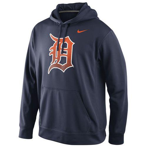 Detroit Tigers Nike Logo Performance Navy Blue MLB Hoodie