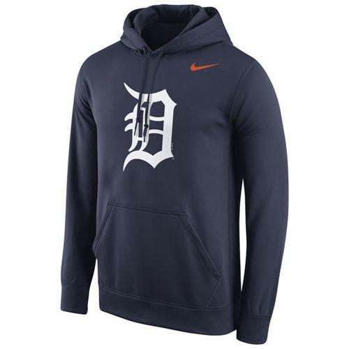 Detroit Tigers Nike Logo Performance Pullover Navy MLB Hoodie