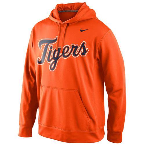 Detroit Tigers Nike Men's KO Wordmark Perfomance Orange MLB Hoodie