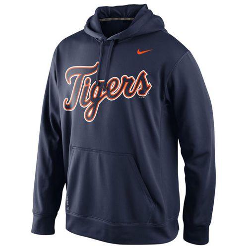 Detroit Tigers Nike Men's KO Wordmark Perfomance Navy MLB Hoodie