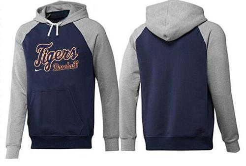 Detroit Tigers Pullover Hoodie Dark Blue & Grey