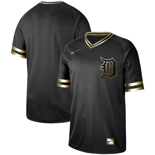 Nike Tigers Blank Black Gold Authentic Stitched MLB Jersey