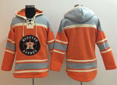 Astros Blank Orange Sawyer Hooded Sweatshirt MLB Hoodie