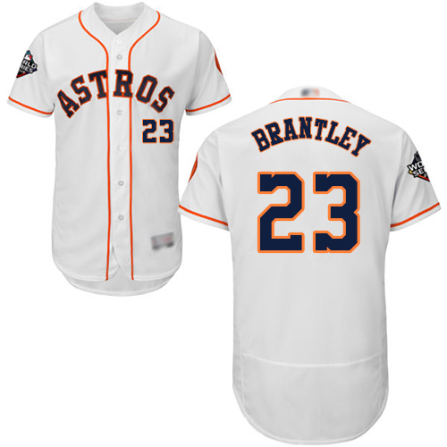 Astros #23 Michael Brantley White Flexbase Authentic Collection 2019 World Series Bound Stitched MLB Jersey
