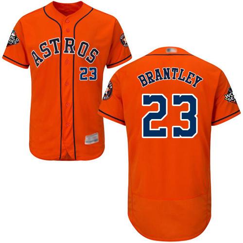 Astros #23 Michael Brantley Orange Flexbase Authentic Collection 2019 World Series Bound Stitched MLB Jersey