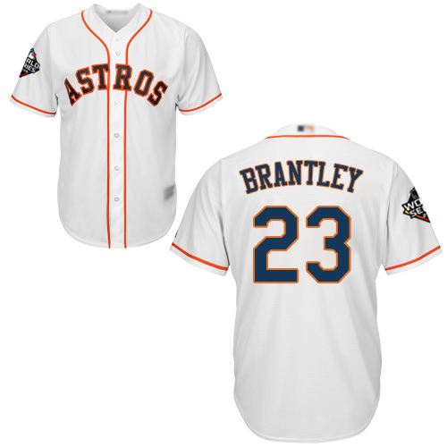 Astros #23 Michael Brantley White New Cool Base 2019 World Series Bound Stitched MLB Jersey