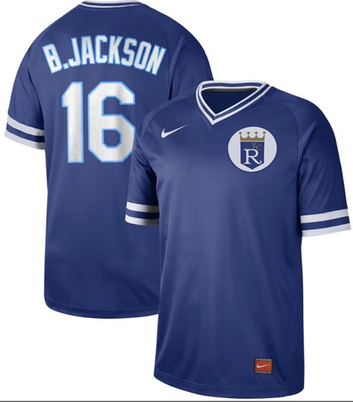 Nike Royals #16 Bo Jackson Royal Authentic Cooperstown Collection Stitched MLB Jersey