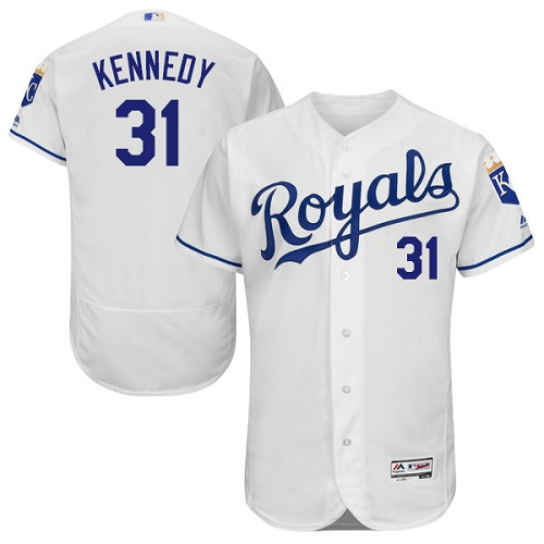 Royals #31 Ian Kennedy White Flexbase Authentic Collection Stitched MLB Jersey