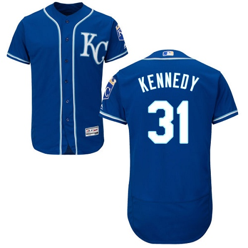 Royals #31 Ian Kennedy Royal Blue Flexbase Authentic Collection Stitched MLB Jersey