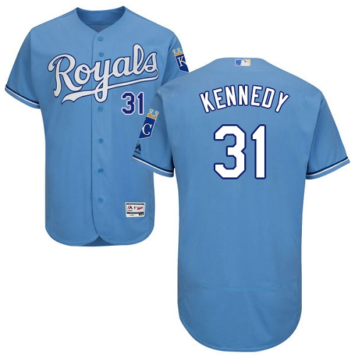 Royals #31 Ian Kennedy Light Blue Flexbase Authentic Collection Stitched MLB Jersey