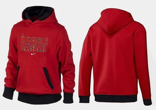 Los Angeles Angels Pullover Hoodie Red & Black