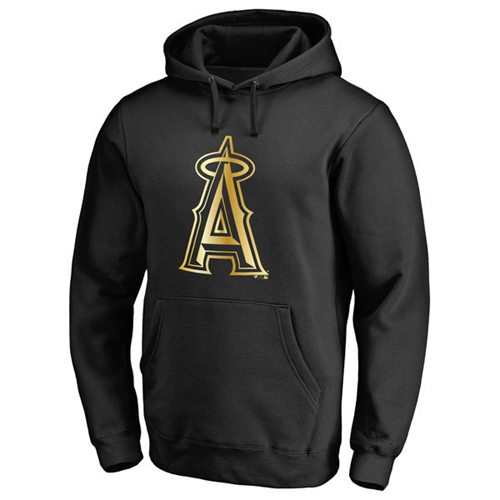 Los Angeles Angels of Anaheim Gold Collection Pullover Hoodie Black