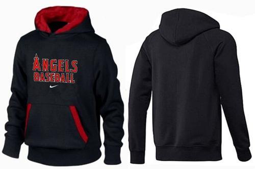 Los Angeles Angels Pullover Hoodie Black & Red
