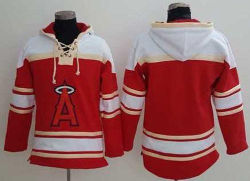 Angels of Anaheim Blank Red Sawyer Hooded Sweatshirt MLB Hoodie