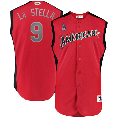 Angels of Anaheim #9 Tommy La Stella Red 2019 All-Star American League Stitched MLB Jersey