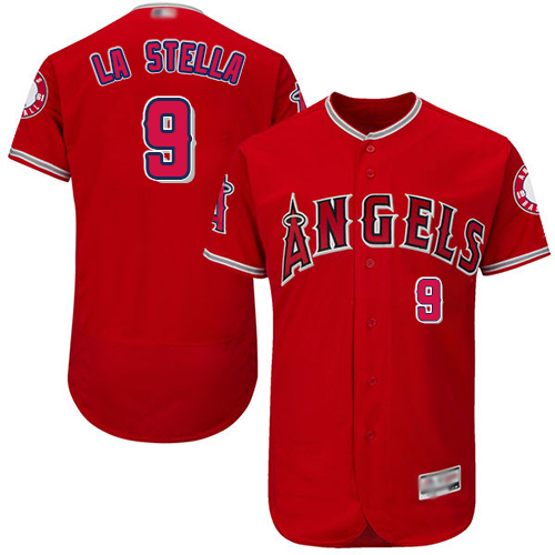 Angels of Anaheim #9 Tommy La Stella Red Flexbase Authentic Collection Stitched MLB Jersey