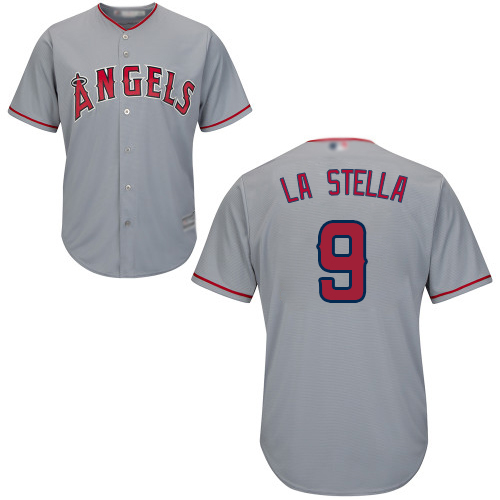 Angels of Anaheim #9 Tommy La Stella Grey New Cool Base Stitched MLB Jersey