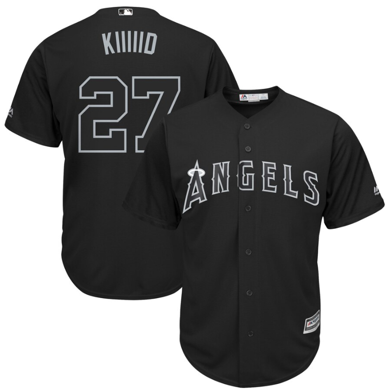 Angels of Anaheim #27 Mike Trout Black