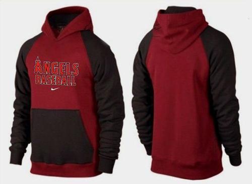 Los Angeles Angels Pullover Hoodie Burgundy Red & Black