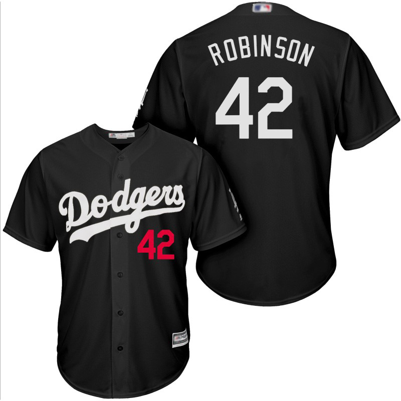 Dodgers #42 Jackie Robinson Black Turn Back The Clock Stitched MLB Jersey
