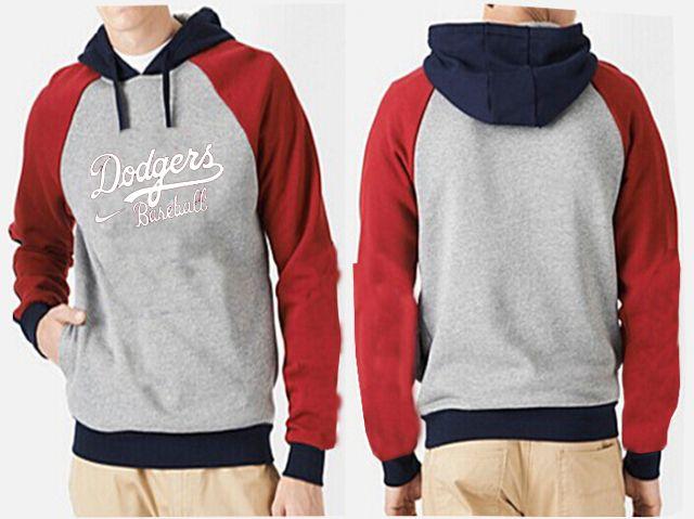 Los Angeles Dodgers Pullover Hoodie Grey & Red