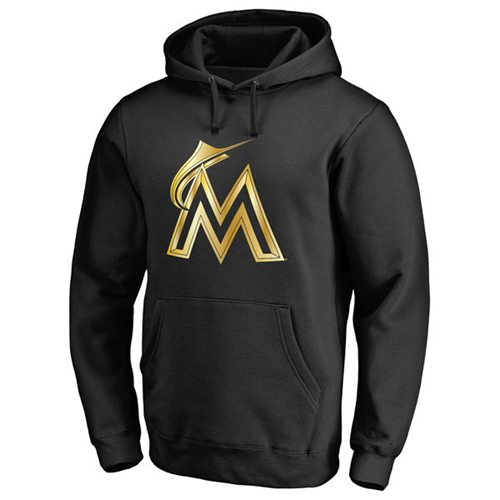 Miami Marlins Gold Collection Pullover Hoodie Black