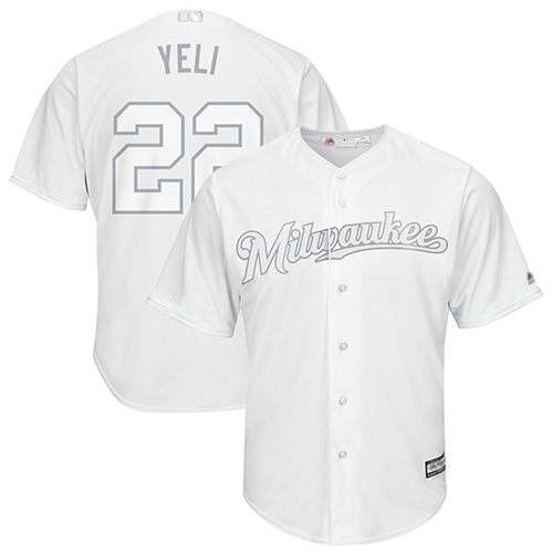 Brewers #22 Christian Yelich White