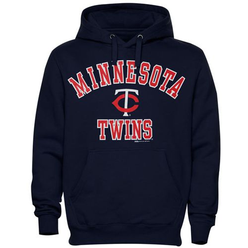 Minnesota Twins Fastball Fleece Pullover Navy Blue MLB Hoodie