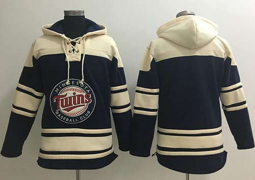 Twins Blank Navy Blue Sawyer Hooded Sweatshirt MLB Hoodie