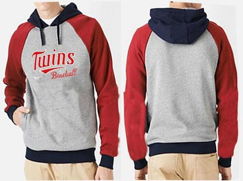 Minnesota Twins Pullover Hoodie Grey & Red