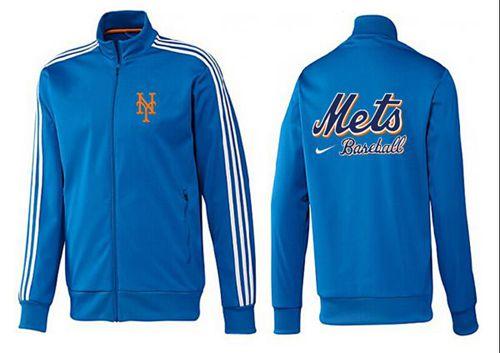 MLB New York Mets Zip Jacket Blue_1
