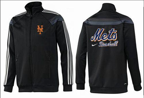 MLB New York Mets Zip Jacket Black_2