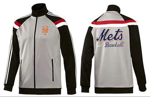 MLB New York Mets Zip Jacket Grey