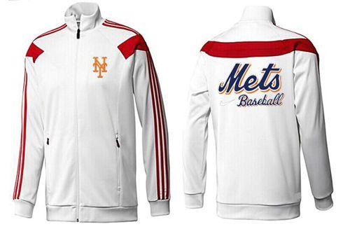 MLB New York Mets Zip Jacket White_2