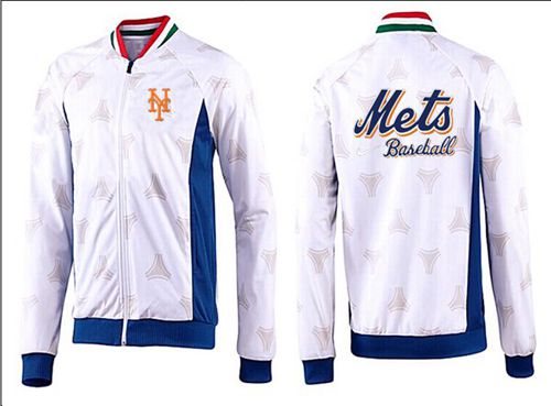 MLB New York Mets Zip Jacket White_3